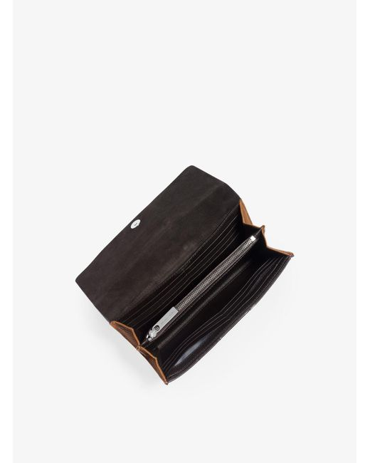 Michael Kors | Brown Rogers Grained-leather Continental Wallet | Lyst