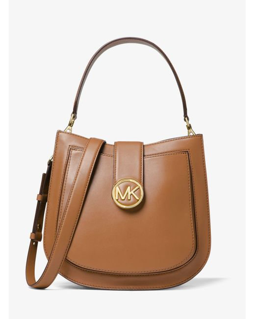 f86167a90a3b3c ... Michael Kors - Brown Lillie Medium Leather Shoulder Bag - Lyst .