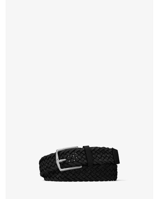 Michael Kors | Black Braided Suede Belt for Men | Lyst