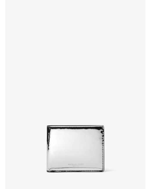 Michael Kors - Harrison Slim Metallic Billfold Wallet for Men - Lyst