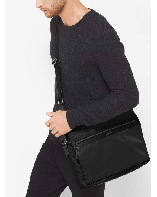 Michael Kors Synthetic Kent Large Nylon Messenger for Men - Save ...