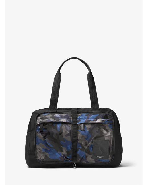 Michael Kors - Blue Kent Camouflage Nylon Duffel for Men - Lyst