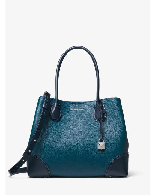 a63a207c8369 ... MICHAEL Michael Kors - Blue Mercer Gallery Medium Color-block Leather  Satchel - Lyst ...