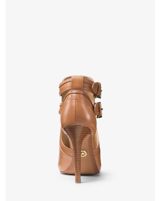 Michael Kors Multicolor Blaze Leather Open-toe Bootie