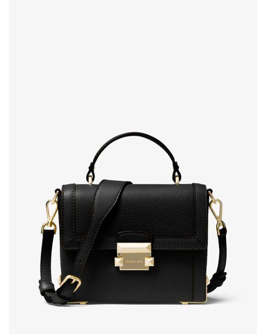 4fc88f35544b1 Michael Kors - Black Jayne Small Pebbled Leather Trunk Bag - Lyst ...