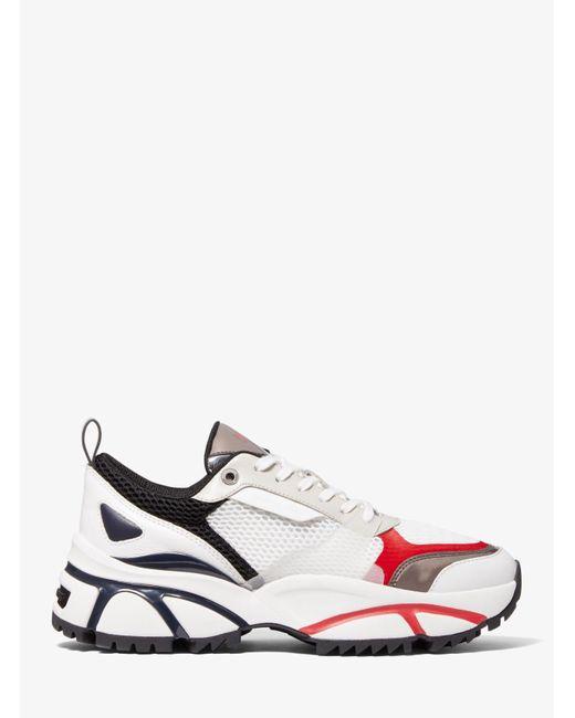 Michael Kors White Sneaker Ethan Aus Mesh Und Leder