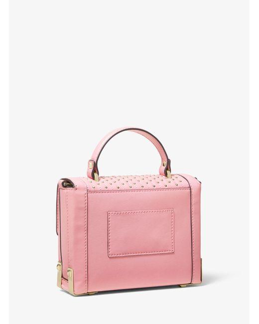 37653e5db276 ... MICHAEL Michael Kors - Pink Jayne Small Studded Leather Trunk Bag -  Lyst ...