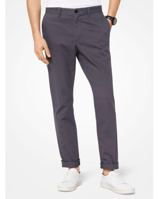 Pantalone chino slim-fit in twill di cotone di Michael Kors in Multicolor da Uomo