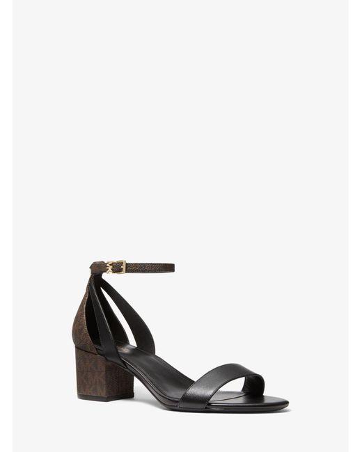 Michael Kors Brown Cardi Flex Logo Sandal
