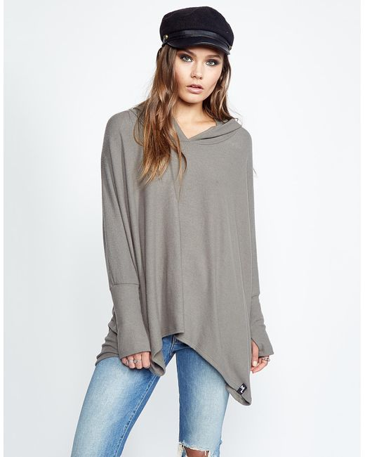 Michael Lauren - Green Dash Oversized Pullover W/ Hood - Lyst
