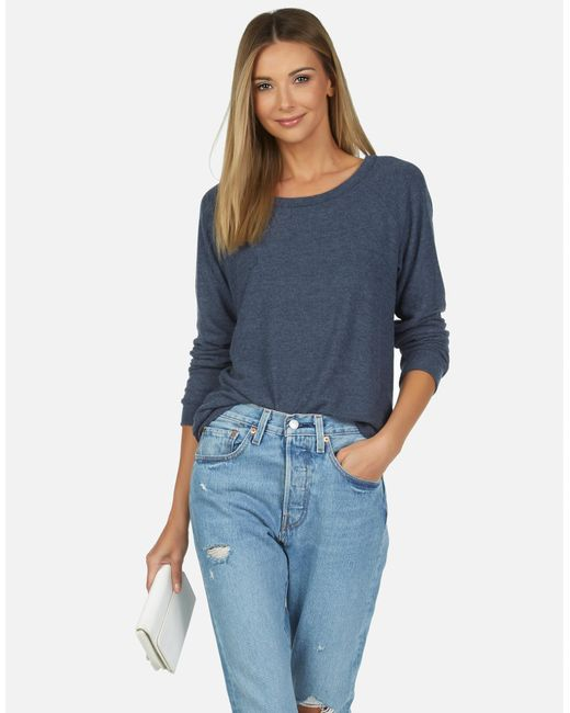 Michael Lauren Blue Kenny Core Pullover