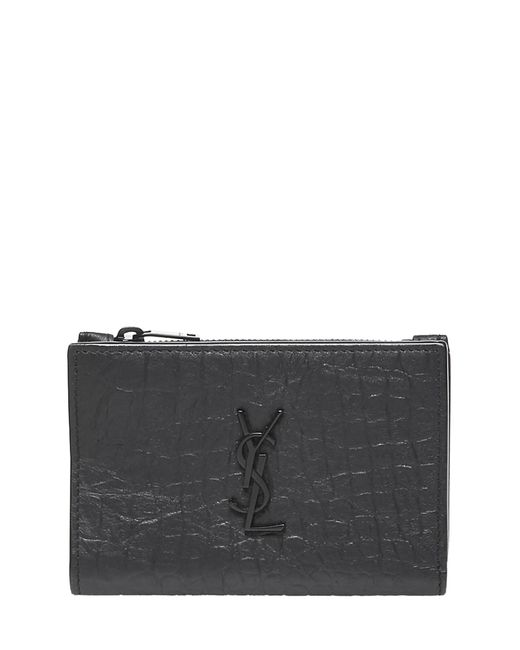 Portafogli Monogram di Saint Laurent in Black da Uomo