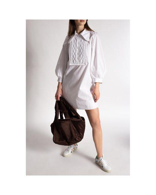 Vestido con cuello Blanco See By Chloé de color White