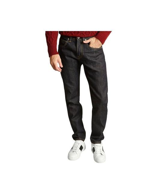 Edwin Ed-55 Regular Tapered Rainbow Selvedge Jeans in het Black voor heren
