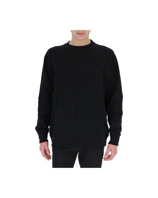 Camisa de entrenamiento Negro Balmain de hombre de color Black