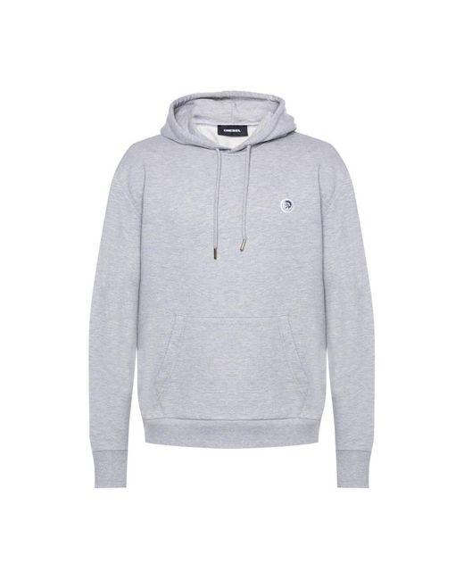 DIESEL Logo Sweatshirt in het Gray voor heren