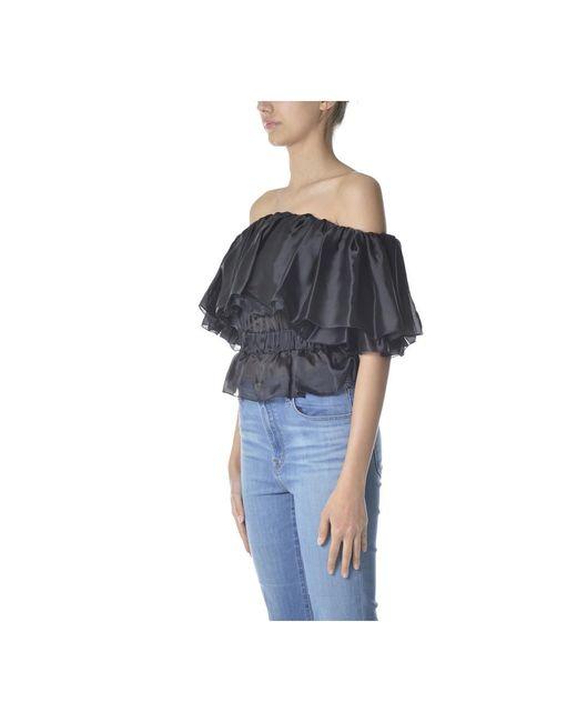 Blouse Negro Elisabetta Franchi de color Black