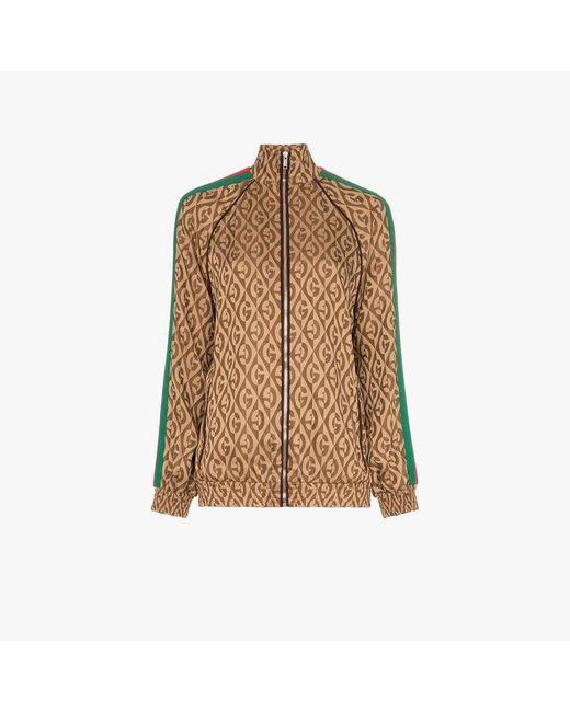 Gucci Jacquard Jacket Gebrul in het Brown