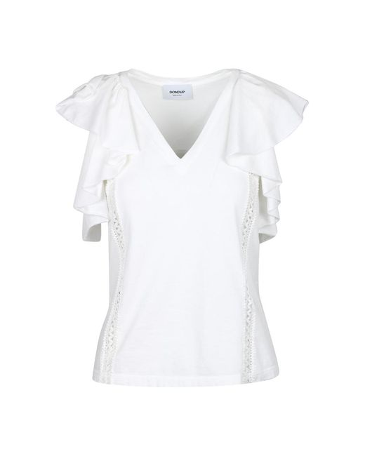 Dondup T-shirt in het White