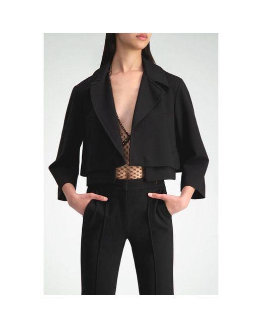 Dorothee Schumacher Cropped Perfection Jacket in het Black