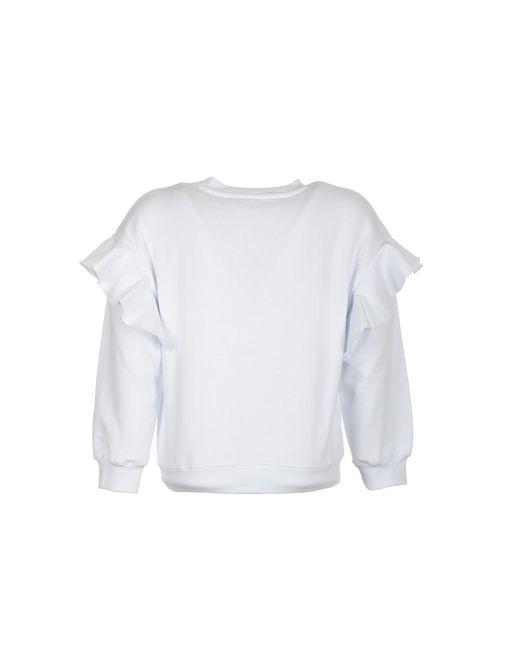 Sweatshirt Blanco Philosophy Di Lorenzo Serafini de color White