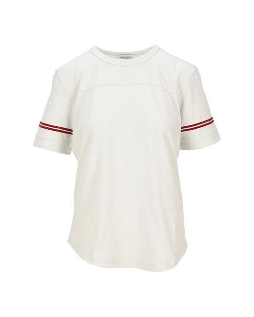 Saint Laurent T-shirt 631825ybuw2 in het White