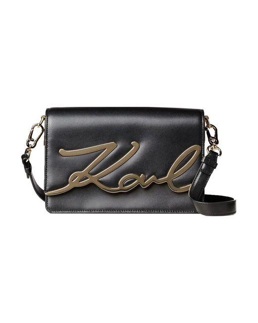 Karl Lagerfeld Signature Bag in het Black