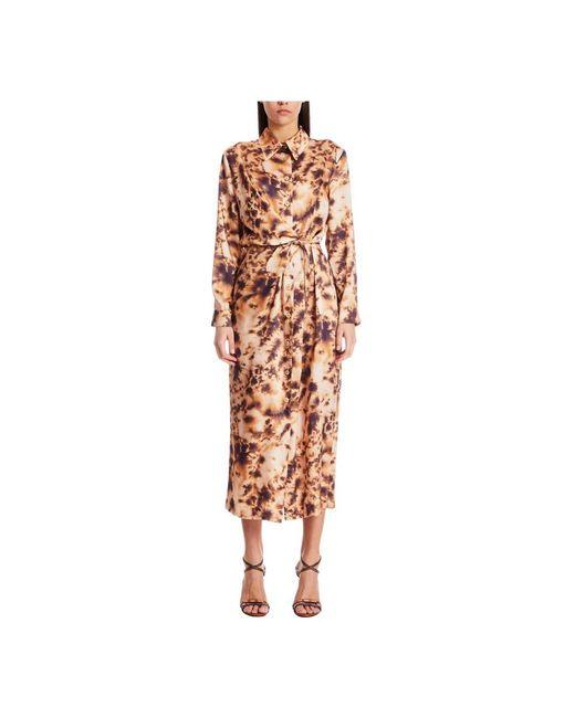 Nanushka Bisso Dress in het Brown