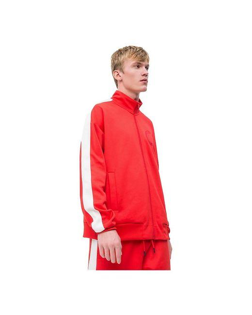 Calvin Klein Track Sweater Longwear in het Red voor heren