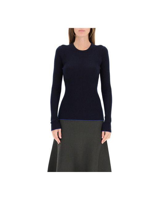 Gabriela Hearst Jaipur Sweater In Cashmere And Silk in het Blue