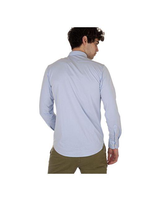 Shirt Oxford Jacquard FRA Azul Rrd de hombre de color Blue