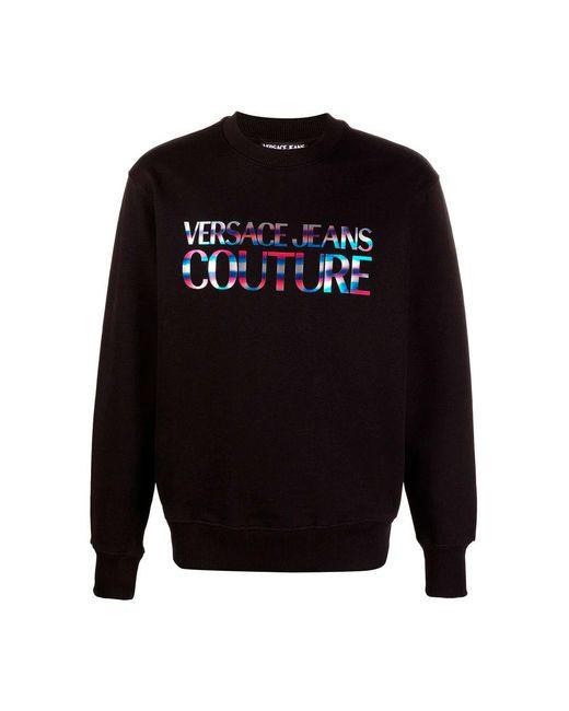 Versace Jeans Sweatshirt Regenboog in het Black voor heren