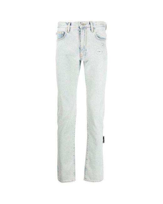 Off-White c/o Virgil Abloh Cut Here Slim Jeans in het Blue voor heren