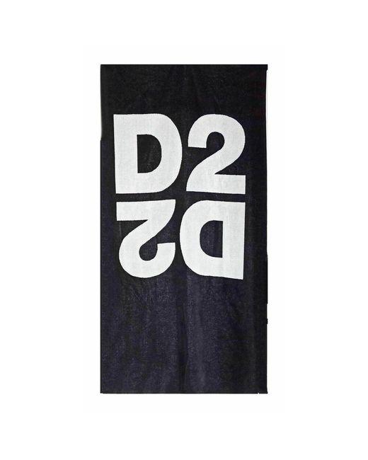 DSquared² Towel in het Black voor heren