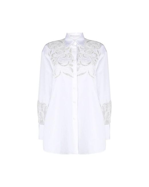 Lace cut-out shirt di Ermanno Scervino in White