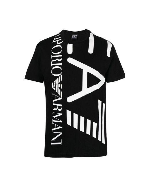 EA7 T-shirt in het Black voor heren