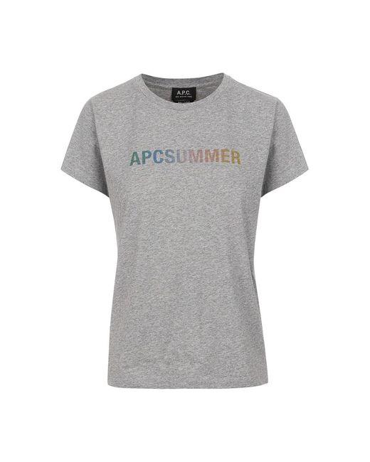 A.P.C. T-shirt in het Gray