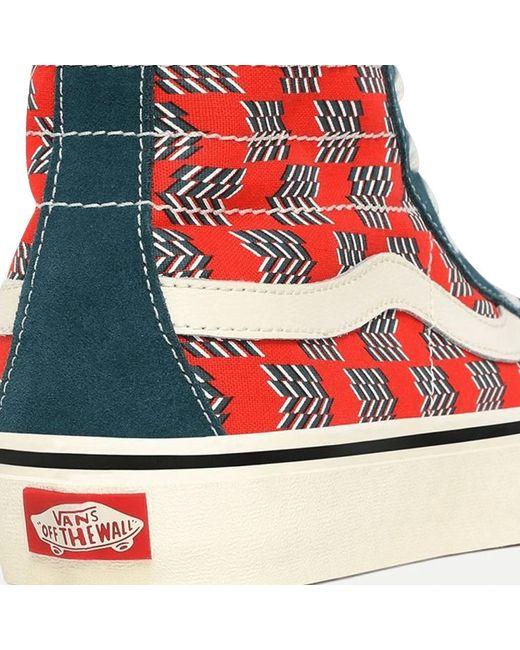 Sk8-Hi 138 Decon Vans pour homme en coloris Rouge - Lyst