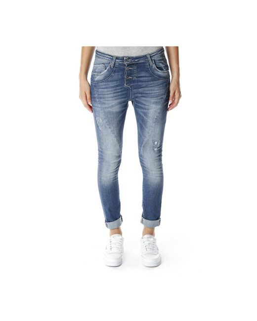 Please P78 baggy Jeans in het Blue