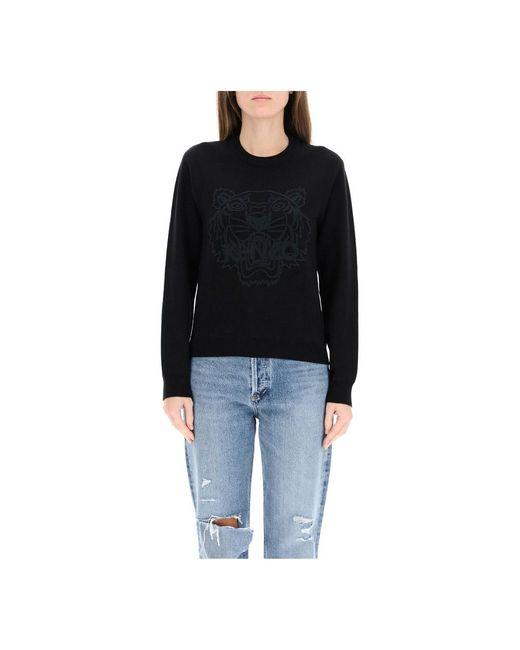KENZO O-neck Knitwear in het Black