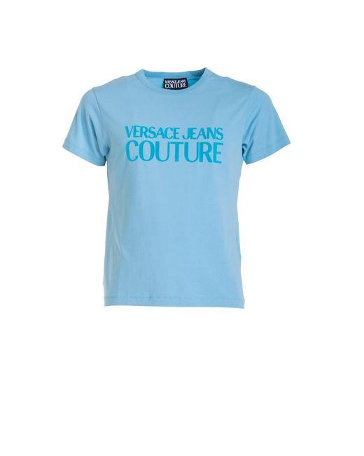 Versace Jeans T-shirt Met Logo in het Blue voor heren