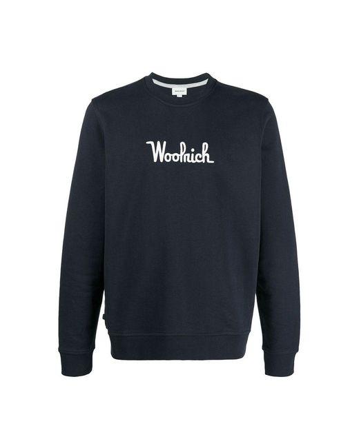 Woolrich Sweater in het Blue voor heren
