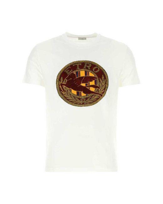 Etro T-shirt in het White voor heren
