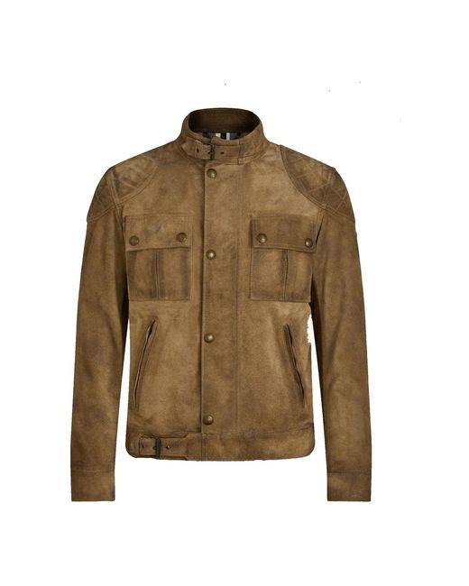 Belstaff Brookstone Leather Jacket Vintage in het Brown voor heren
