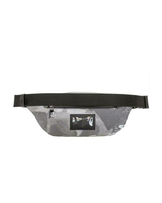 Belt Bag with Logo di Dolce & Gabbana in Gray da Uomo