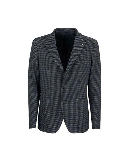 Tagliatore Blazer Jacket Pied De Poule in het Gray voor heren