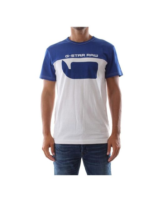 G-Star RAW Grafische T-shirt in het Blue voor heren