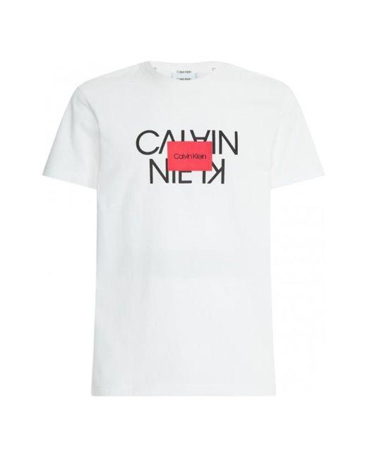 Calvin Klein T-shirt K10k106489 in het White voor heren