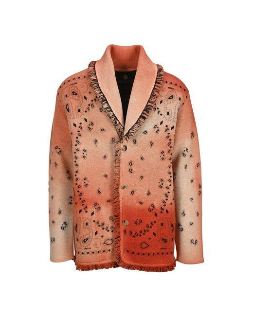 Jacket Lmhb019S21Kni009 di Alanui in Orange da Uomo