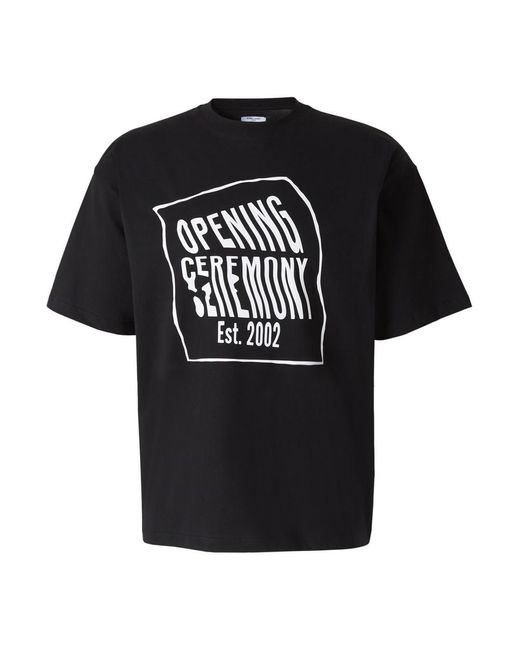 Opening Ceremony Warped Logo T-shirt in het Black voor heren